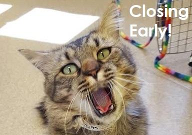 Closing Early Saturday October 13